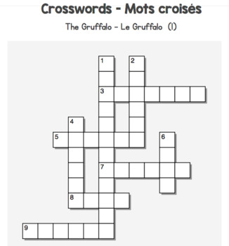 Crosswords - Mots croisés - The Gruffalo in French - Part I