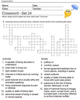 Crosswords Puzzle Games Worksheets Vol.2