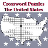 Crosswords about the US Geography: Cities, States, Rivers, Lakes and Mountains
