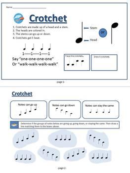 Crotchet Music Theory Mini-Book (UK term for Quarter Note)