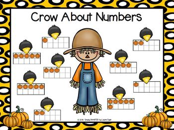 Crow About Numbers:  NO PREP Scarecrow Themed Ten Frames Roll and Cover Game