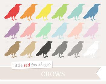Crow Clipart; Halloween, Animal