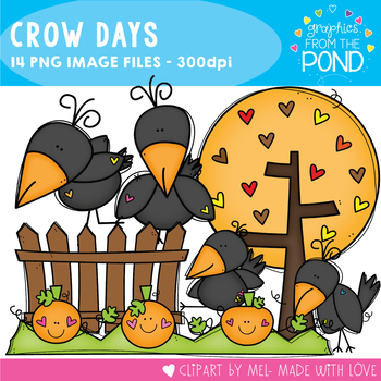 Crow Days Clipart Set