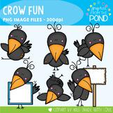 Crow Fun - Fall / Autumn Clipart Set
