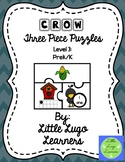 Fall Scarecrow (Level 3) Crow Three Piece Puzzles