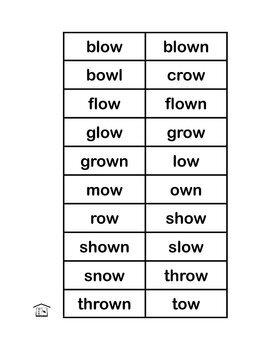 Crow Town -ow- Words Game