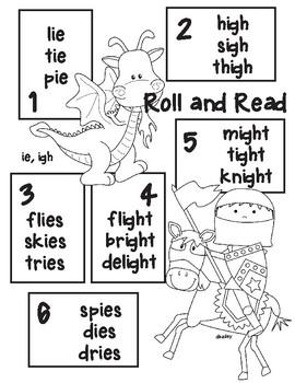 Freddy Knight Vowel Team Long i -ie, -igh  Roll and Read