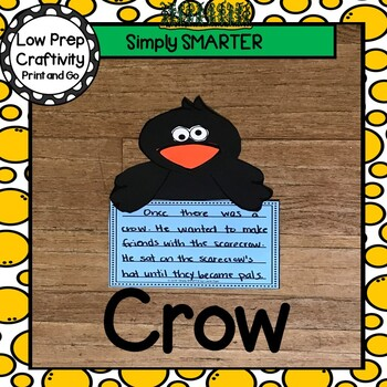 Crow Writing Cut and Paste Craftivity