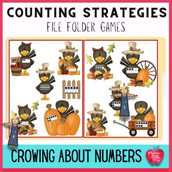Fall Counting File Folder Game: Crowing About Numbers
