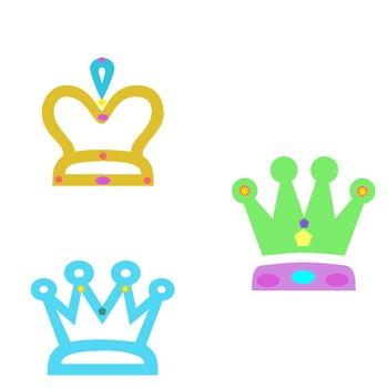 Crown Clip Art Set