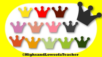 Crown Clip Art in Variety Colors