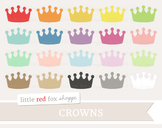 Crown Clipart; King, Queen, Princess, Prince