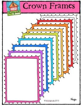 Crown Frames {P4 Clips Trioriginals Digital Clip Art}