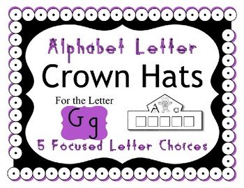 Crown Hat for the Letter G - Preschool and Kindergarten