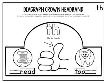 Crown Headband DIGRAPHS (Part of a Bundle)