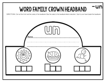 Word Family Headbands-(Part of a Bundle)