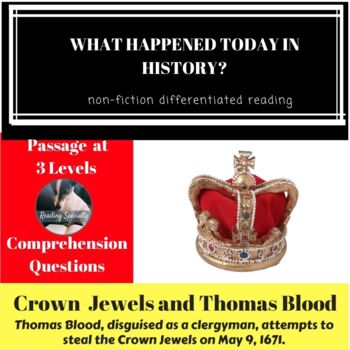 Crown Jewels and Thomas Blood Differentiated Reading Passage May 9