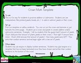Crown Math Subtraction: Common Core hands-on understanding