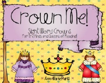 Crown Me!  Sight Word Crowns