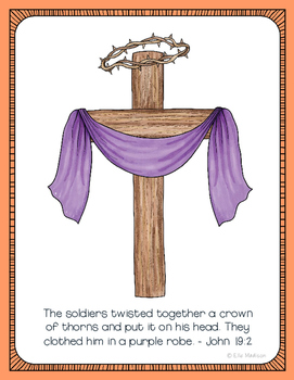 FREEBIE!!! Crown of Thorns Poster, Class Decor, Holiday Sign, Easter