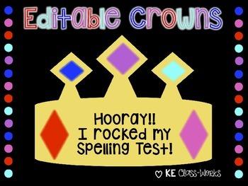 Crowns (Editable)