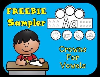 Crowns Freebie:  Vowel Crowns Sampler