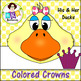 Crowns ● His & Her Ducks-Colored Crowns