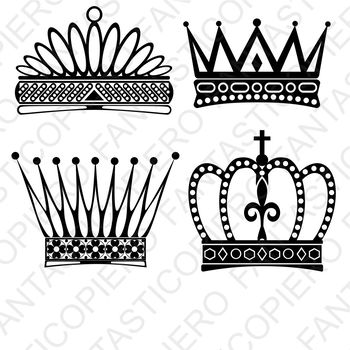 Crowns SVG files for Silhouette Cameo and Cricut.