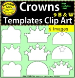 Crowns  Templates Clip Art Personal and Commercial Use