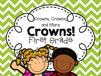 Crowns for FIRST GRADE (First Week of School - Back to School)