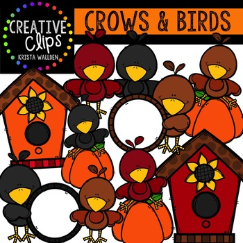 Crows and Birds {Creative Clips Digital Clipart}