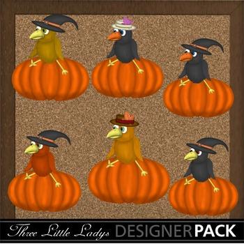 Crows on Pumpkins