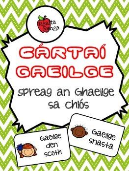 Cártaí Gaeilge - Spreag an Ghaeilge sa Chlós // Encourage Irish in the Yard