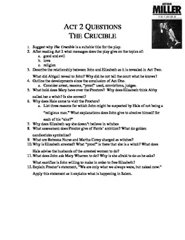 Crucible - Act 2 Qs