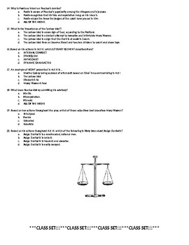 Crucible Act III Quiz (Honors)