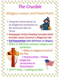 Crucible Allegory Lesson, Reading, and PowerPoint