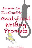 Crucible Analytical Essay Prompts with Rubrics