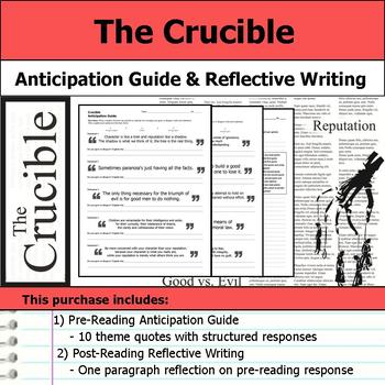 Crucible - Anticipation Guide & Reflection