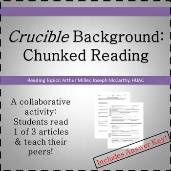 Crucible Background: Collaborative Reading Activity