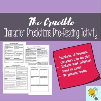 Crucible Character Predictions