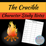 Crucible Character Study Notes Sheet