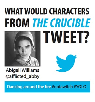 The Crucible Characterization Twitter Activity