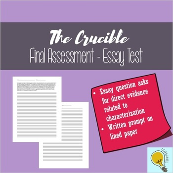 Crucible Essay Prompt