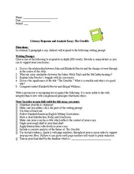 Crucible essay