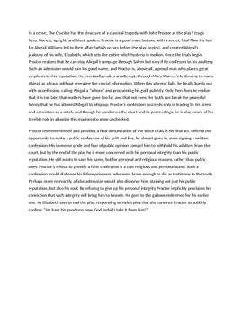 Crucible Final Essay Prompt