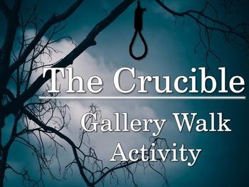 Crucible Gallery Walk: Writing and Image Analysis Activity