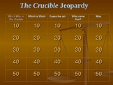 Crucible Jeopardy
