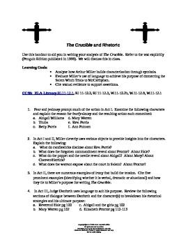 Crucible Literary Analysis Practice