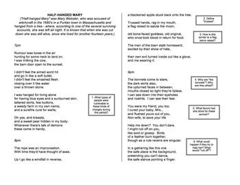 half hanged mary poem