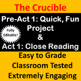 Crucible Act 1 Project on CONCEALING the TRUTH and Close Reading Activity